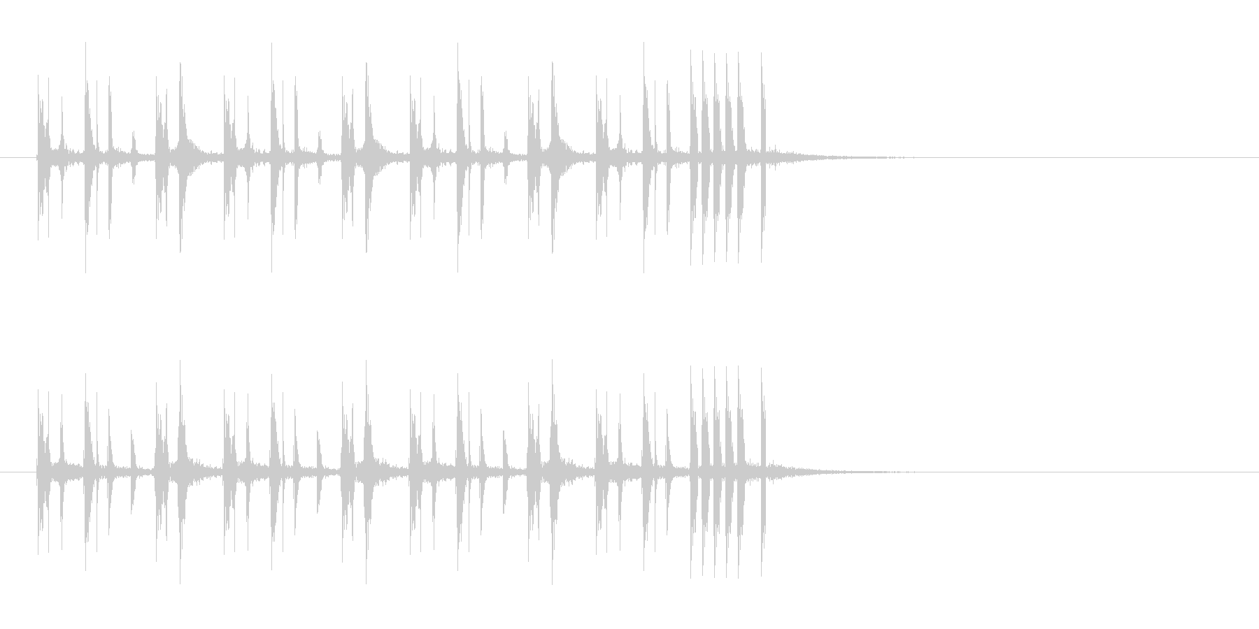 シンプルでキャッチーなリフジングルの未再生の波形
