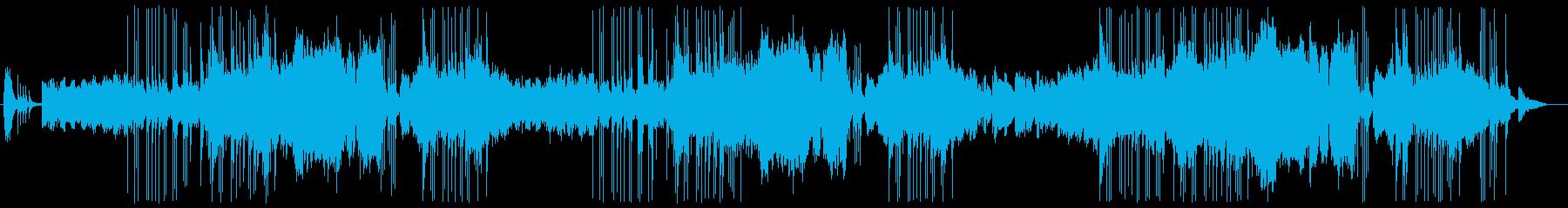 三味線と笛による和風曲の再生済みの波形