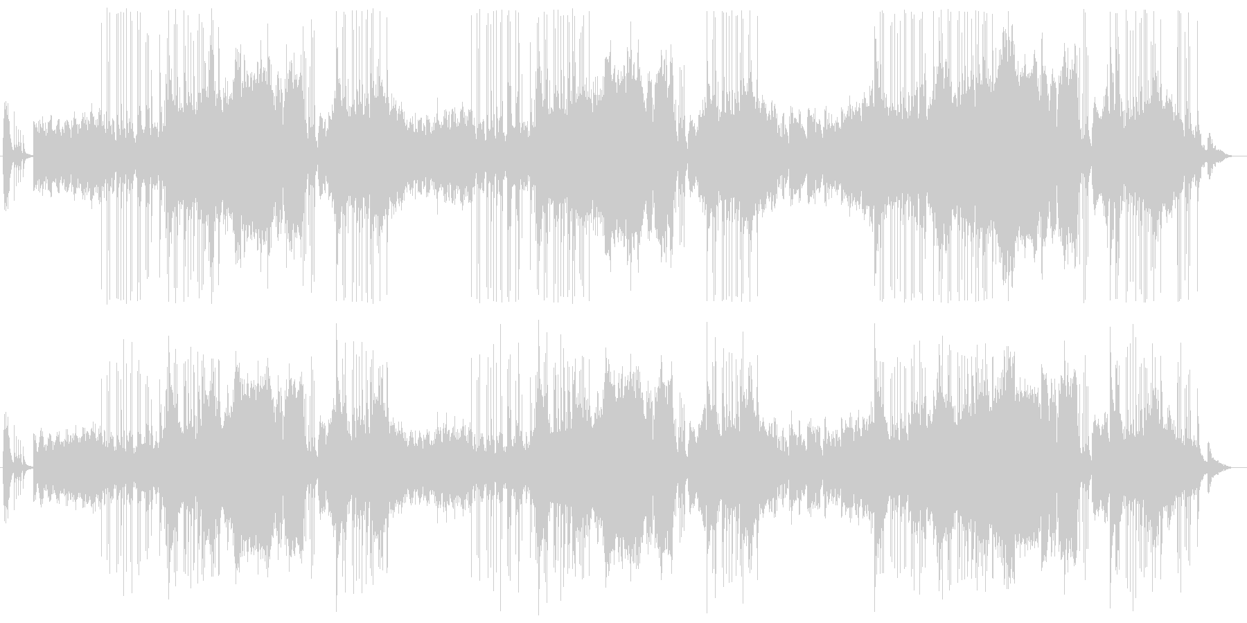 三味線と笛による和風曲の未再生の波形