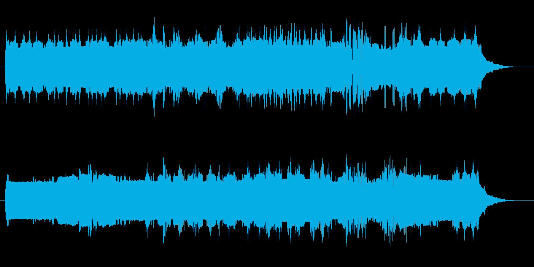 宇宙や近未来感のある音(通信、ロボット)の再生済みの波形