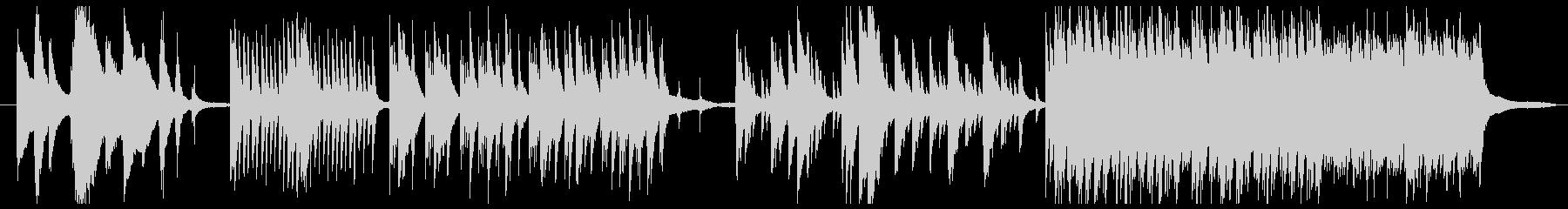 暗い雰囲気の映画的なピアノソロの未再生の波形