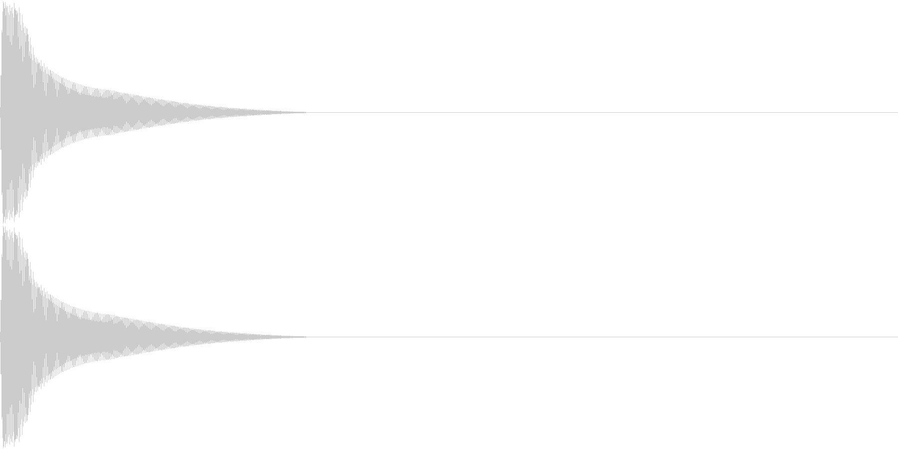 PureTouch アプリ用タッチ音 3の未再生の波形