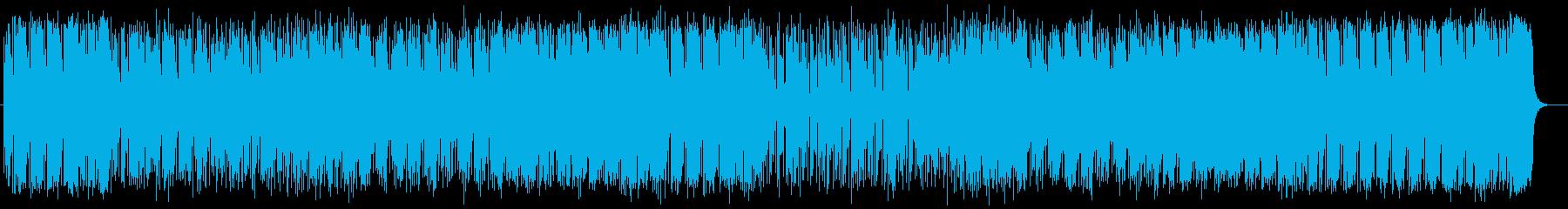 爽快でアップテンポなミュージックの再生済みの波形