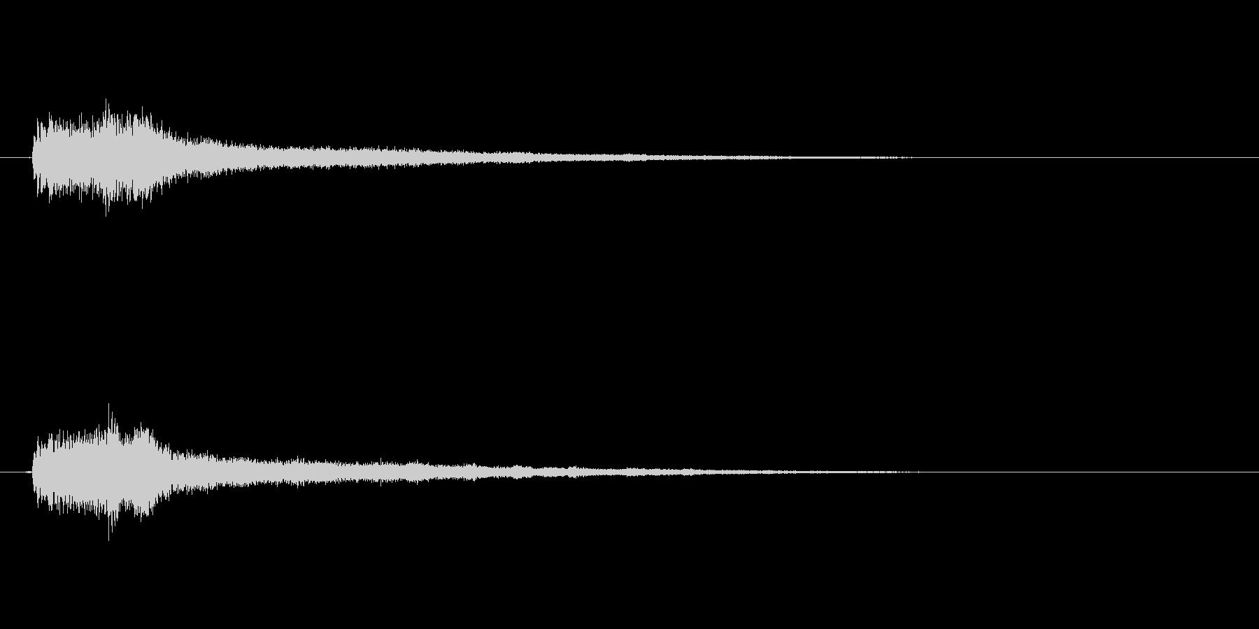 テロップの音・決定音・シャラララーンの未再生の波形