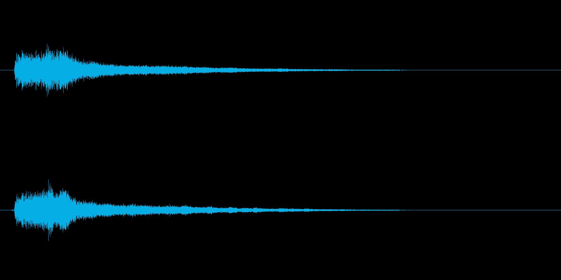 テロップの音・決定音・シャラララーンの再生済みの波形
