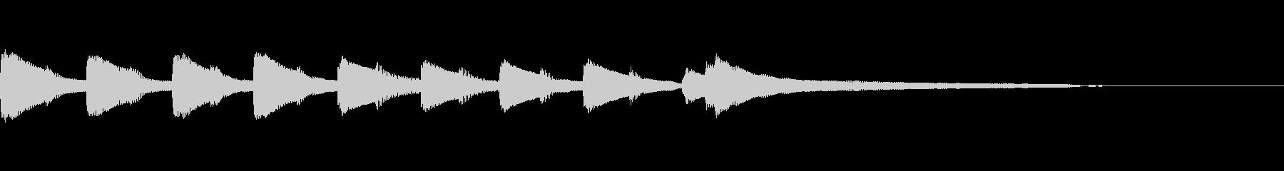 やさしいピアノ・サウンドロゴ5の未再生の波形