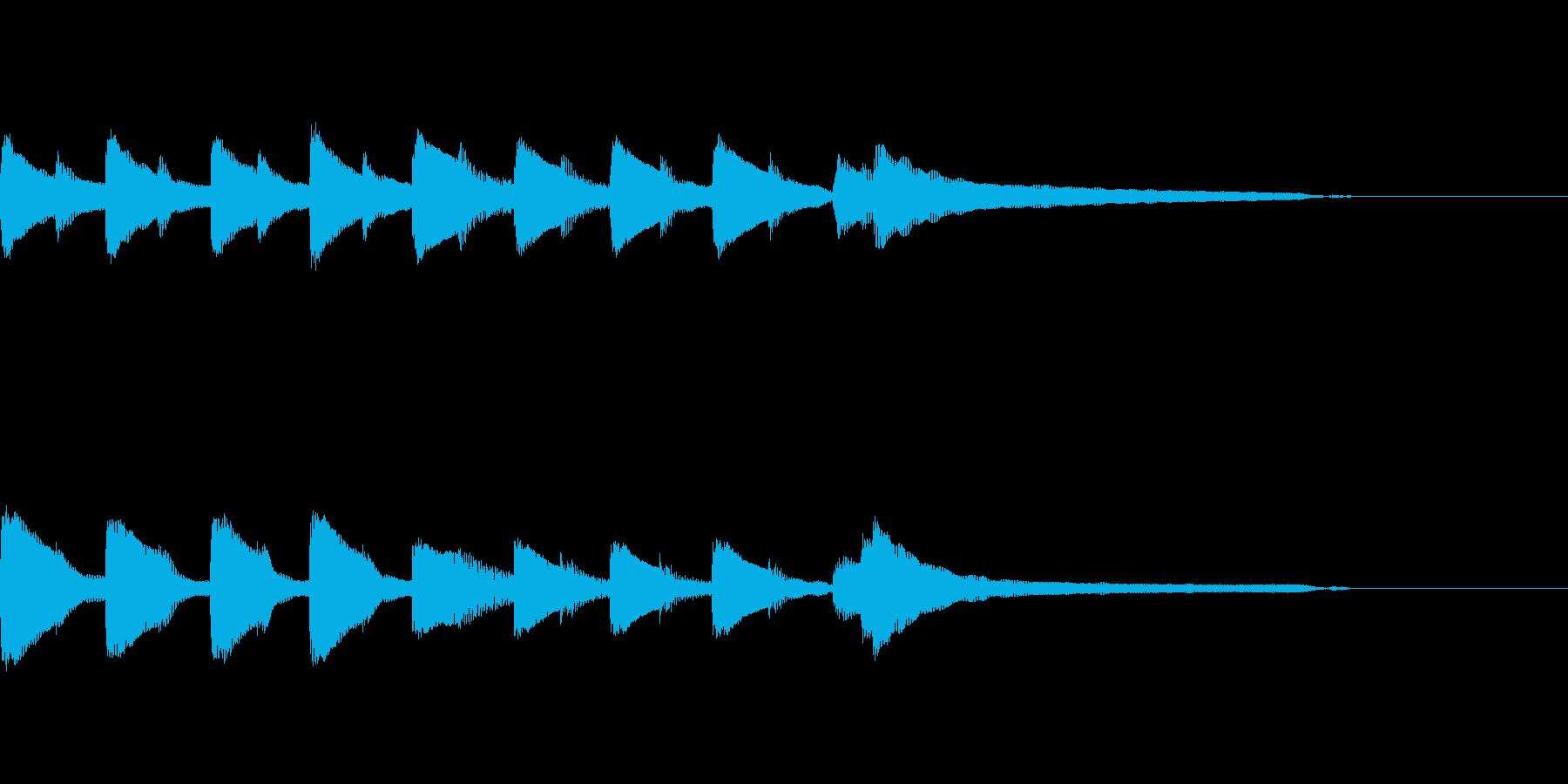 やさしいピアノ・サウンドロゴ5の再生済みの波形