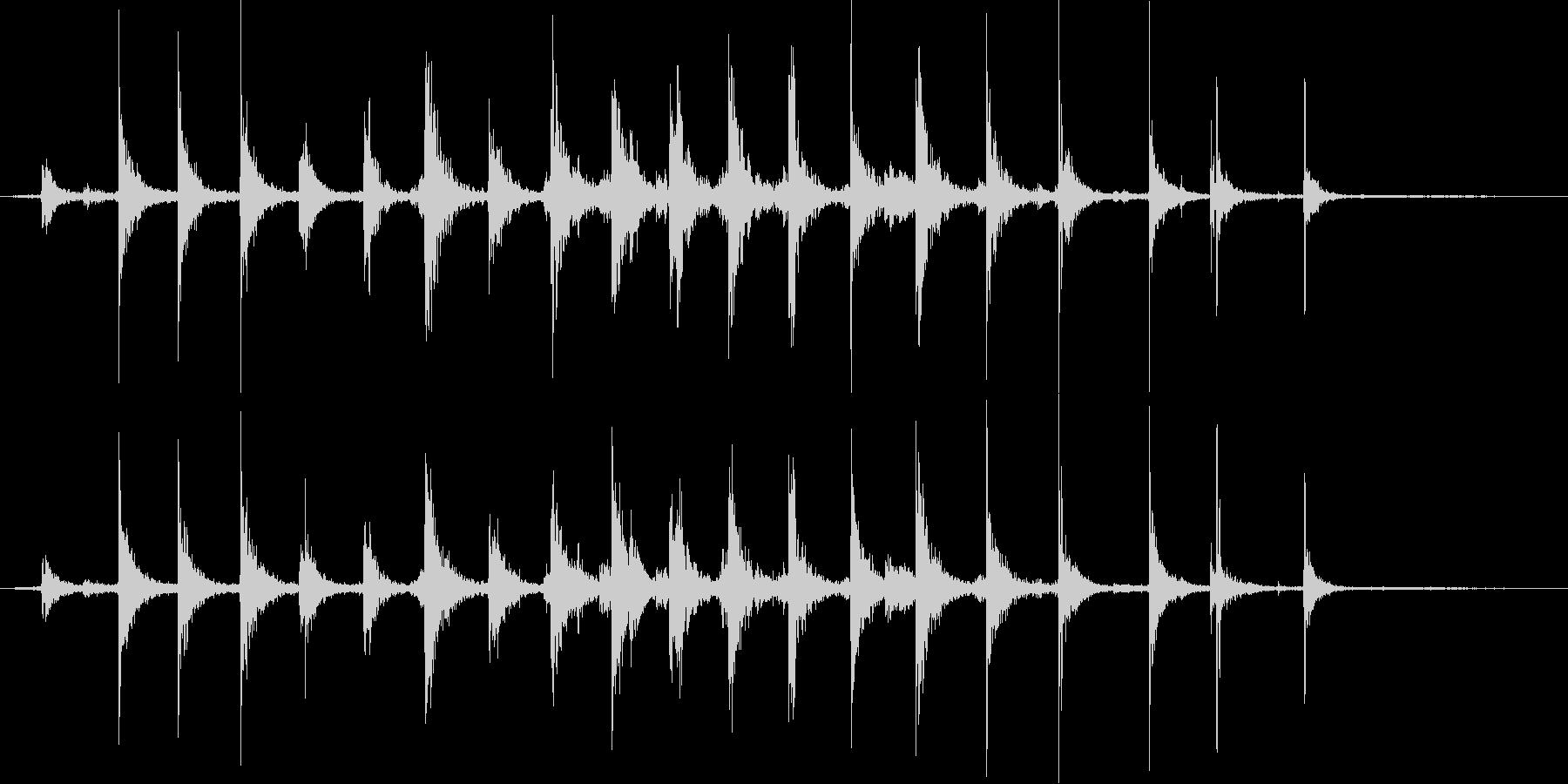 【生活音】階段01B(上り)の未再生の波形