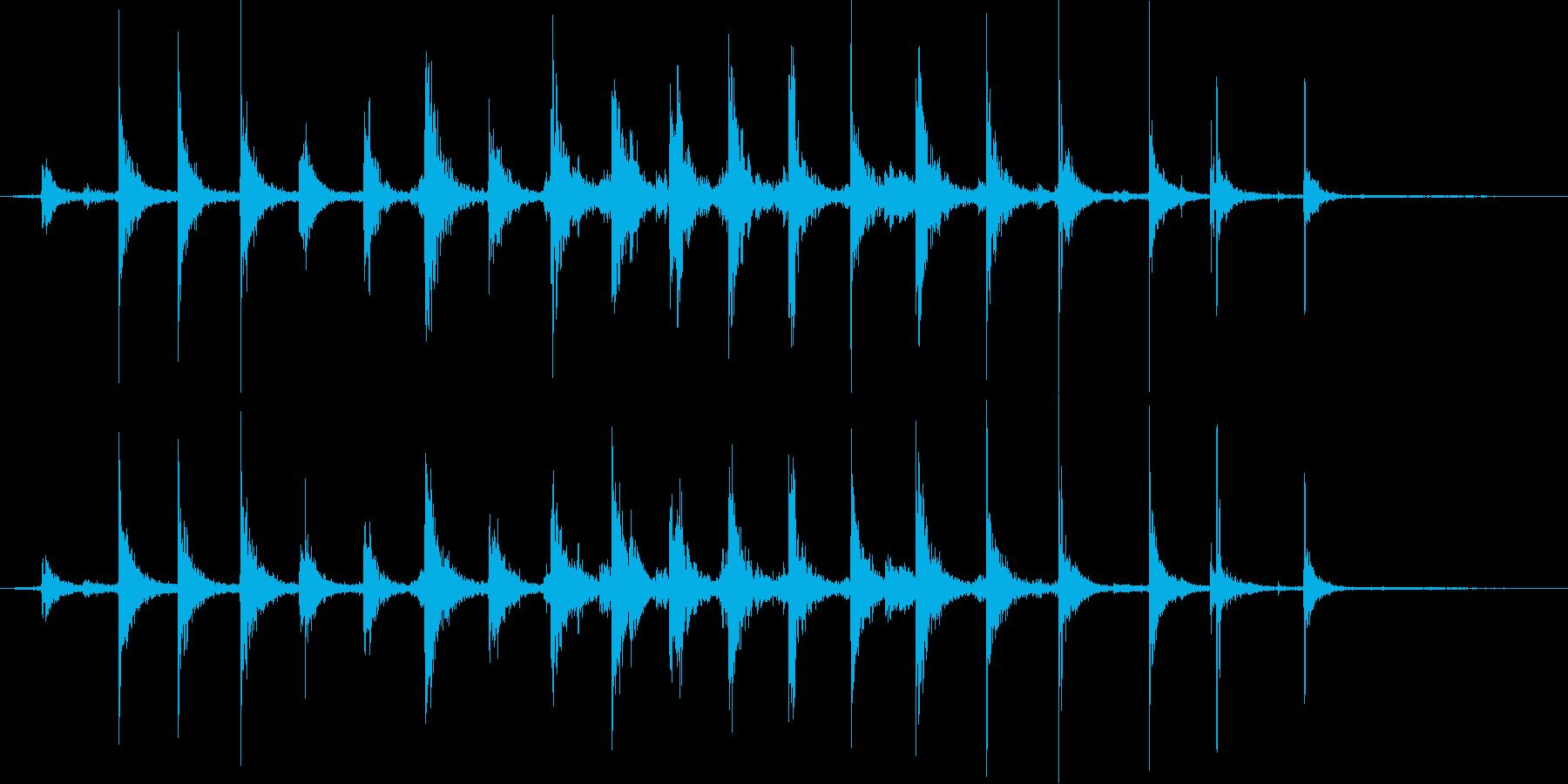 【生活音】階段01B(上り)の再生済みの波形