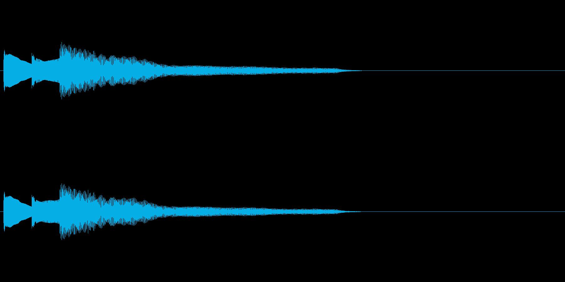 アナウンス・ピンポンパンポーン終了の再生済みの波形