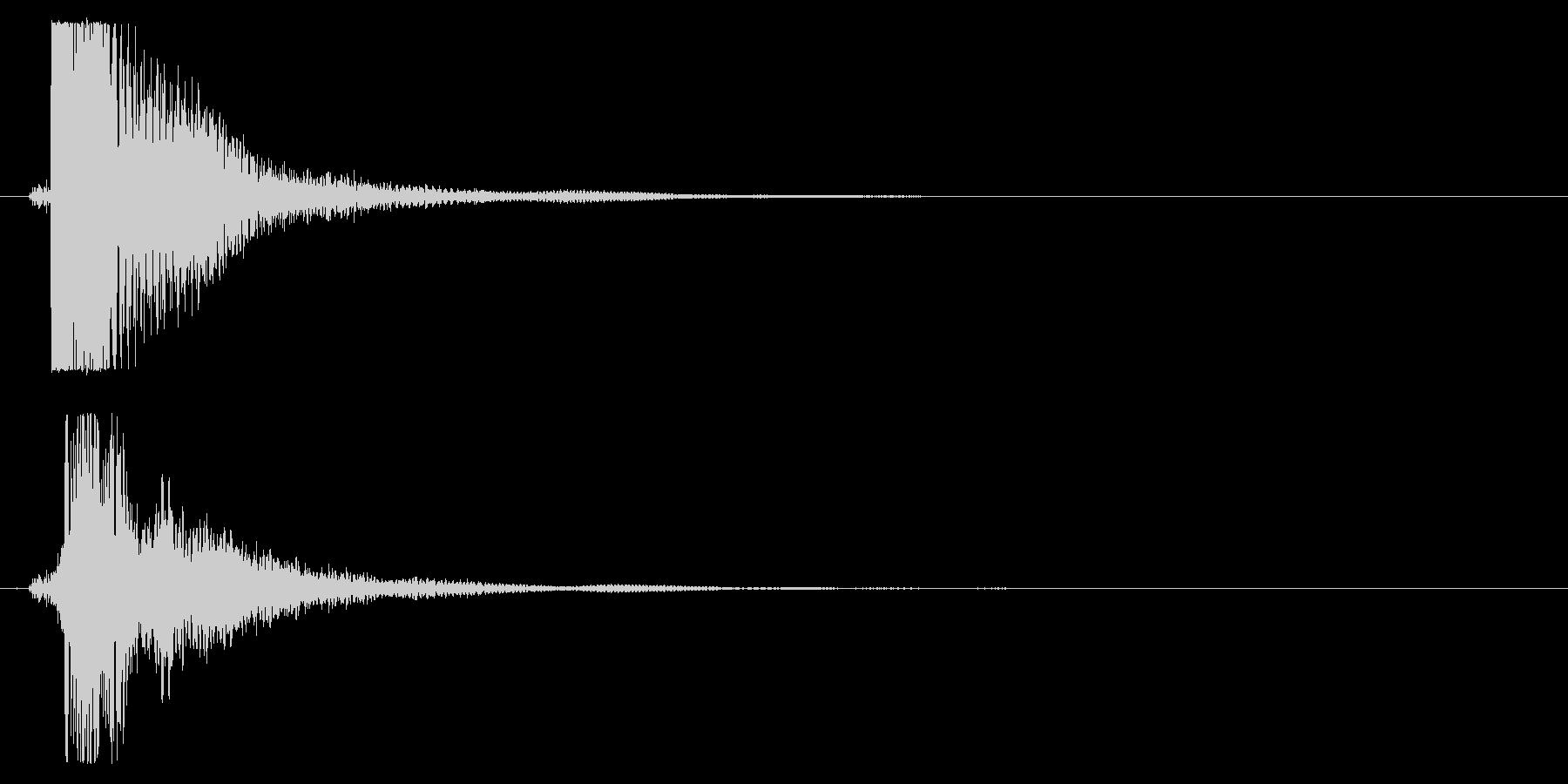 タッチ決定クリック音サウンドロゴに10!の未再生の波形