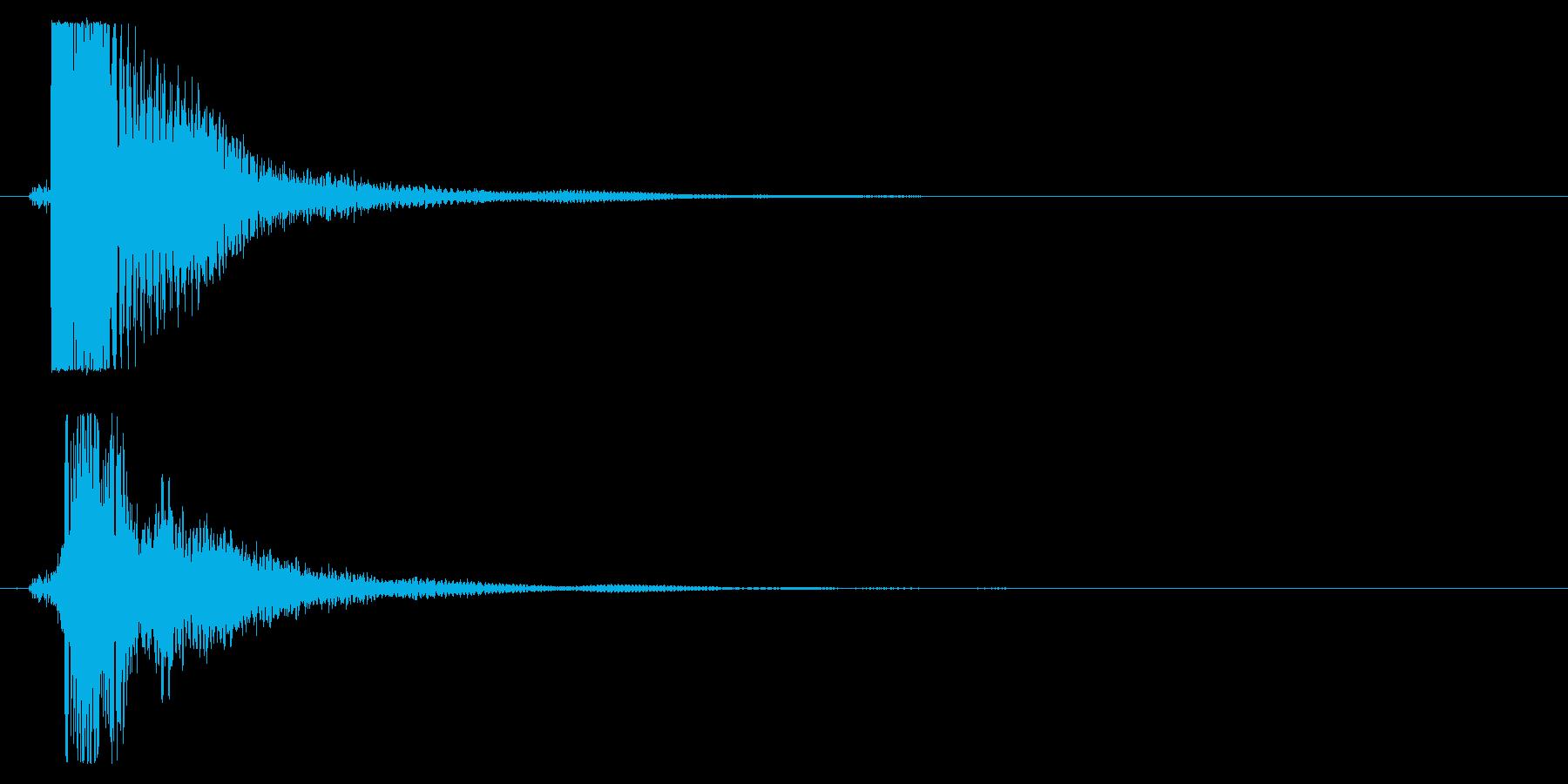 タッチ決定クリック音サウンドロゴに10!の再生済みの波形