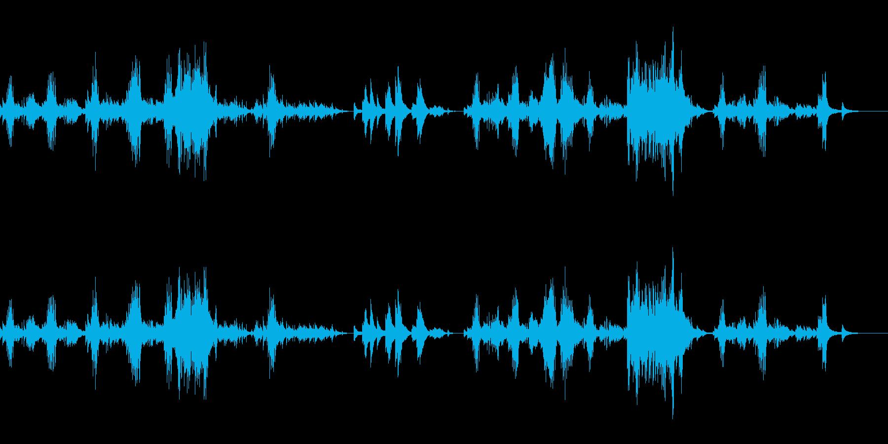 インパクトの強い癒し系ピアノ感動的の再生済みの波形