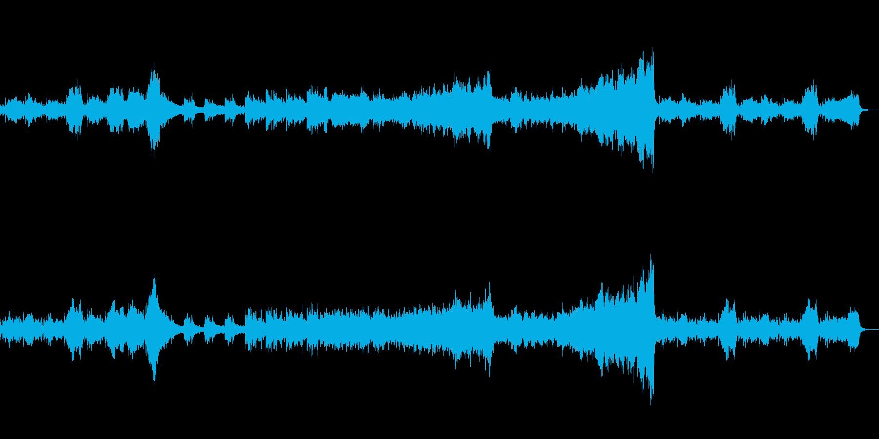 幻想的・アンビエント的なオーケストラ曲の再生済みの波形