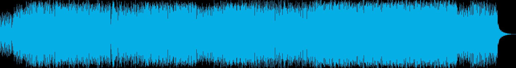 サンバ的リズムのコミカルなビッグビートの再生済みの波形