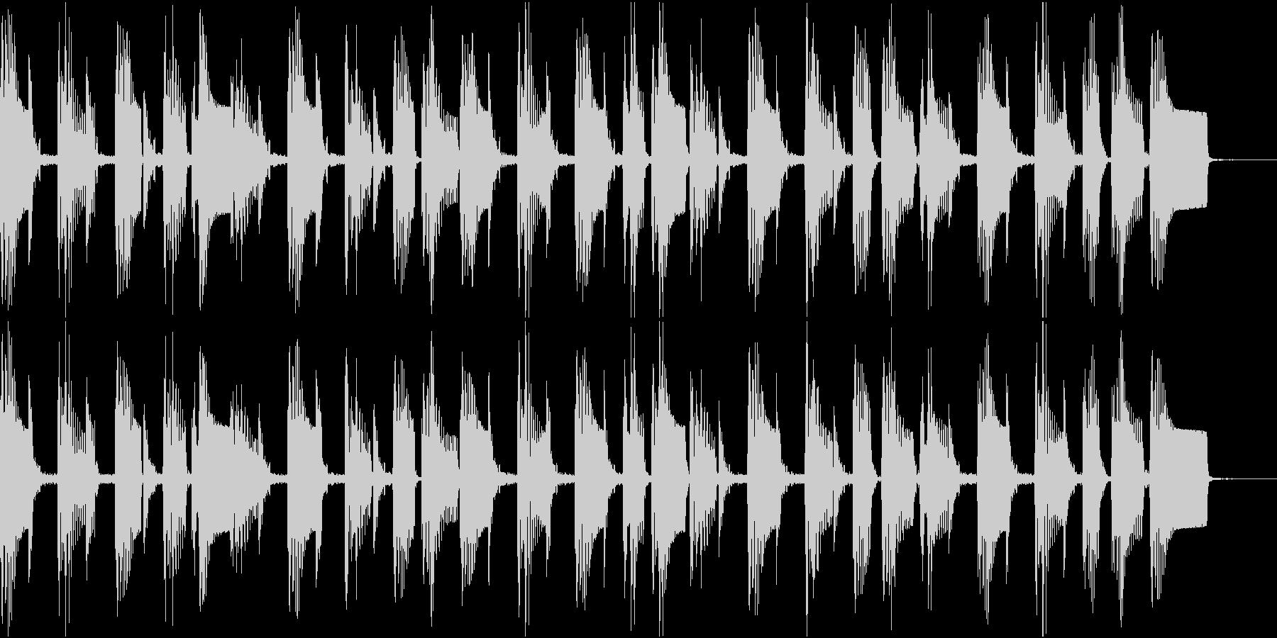 ゆったりとしたジャズ風のBGMの未再生の波形