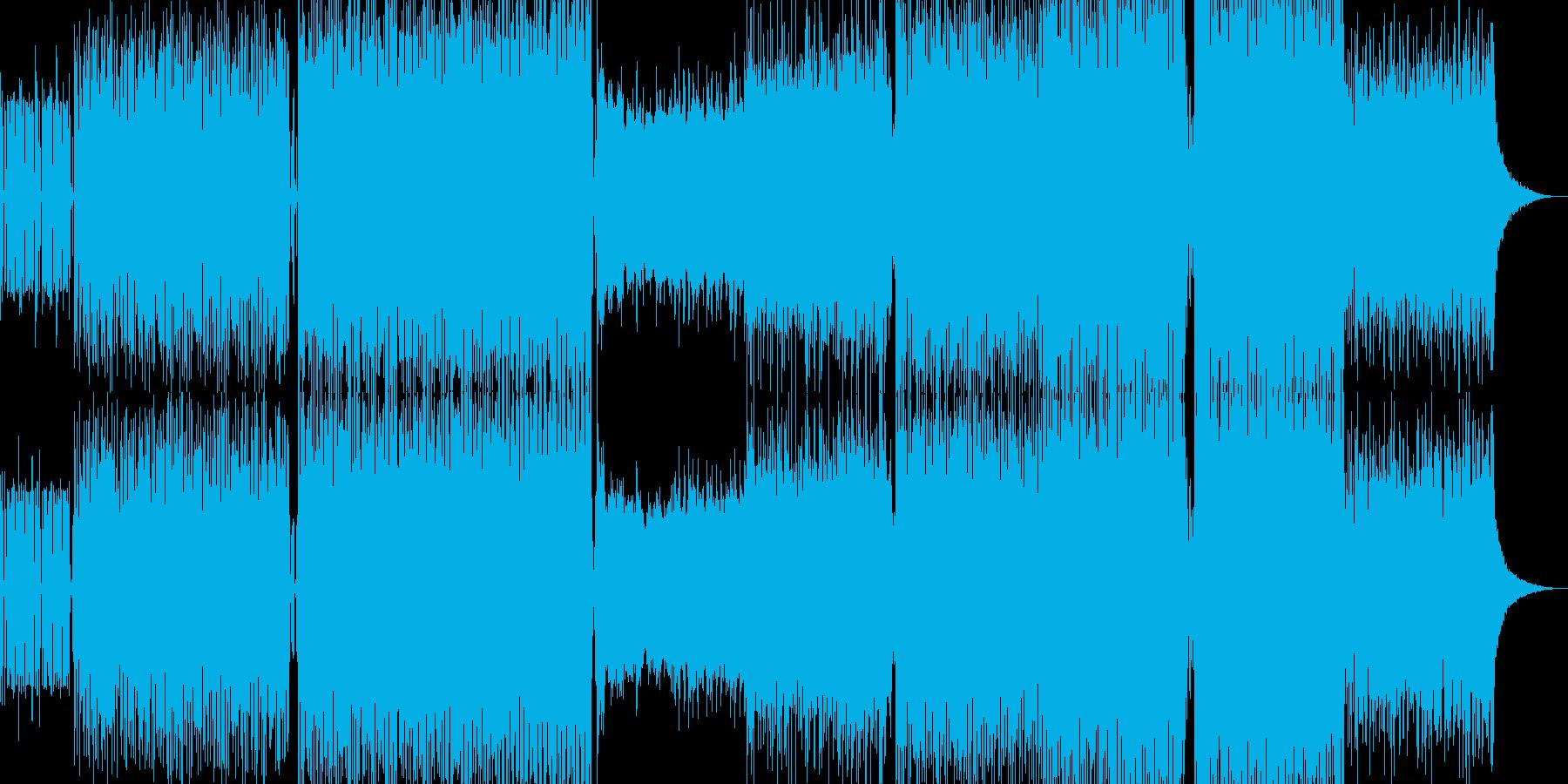 ブレイクビーツBGMの再生済みの波形