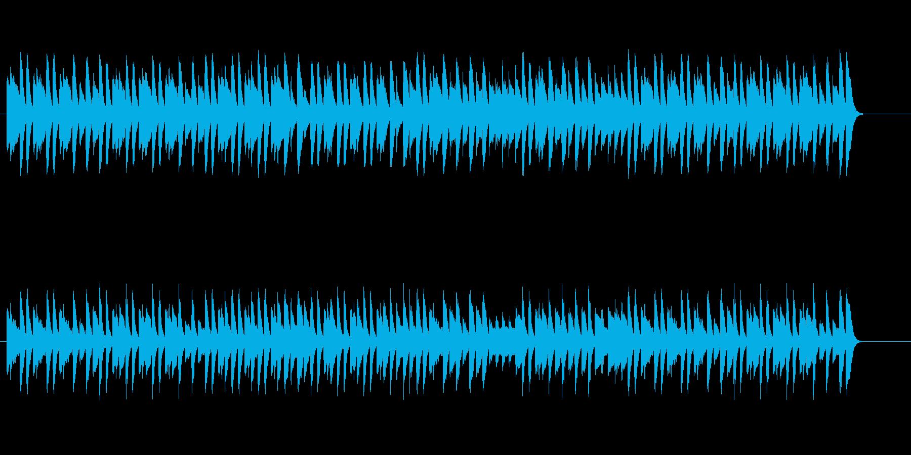 猫踏んじゃったをシンセピアノでの再生済みの波形