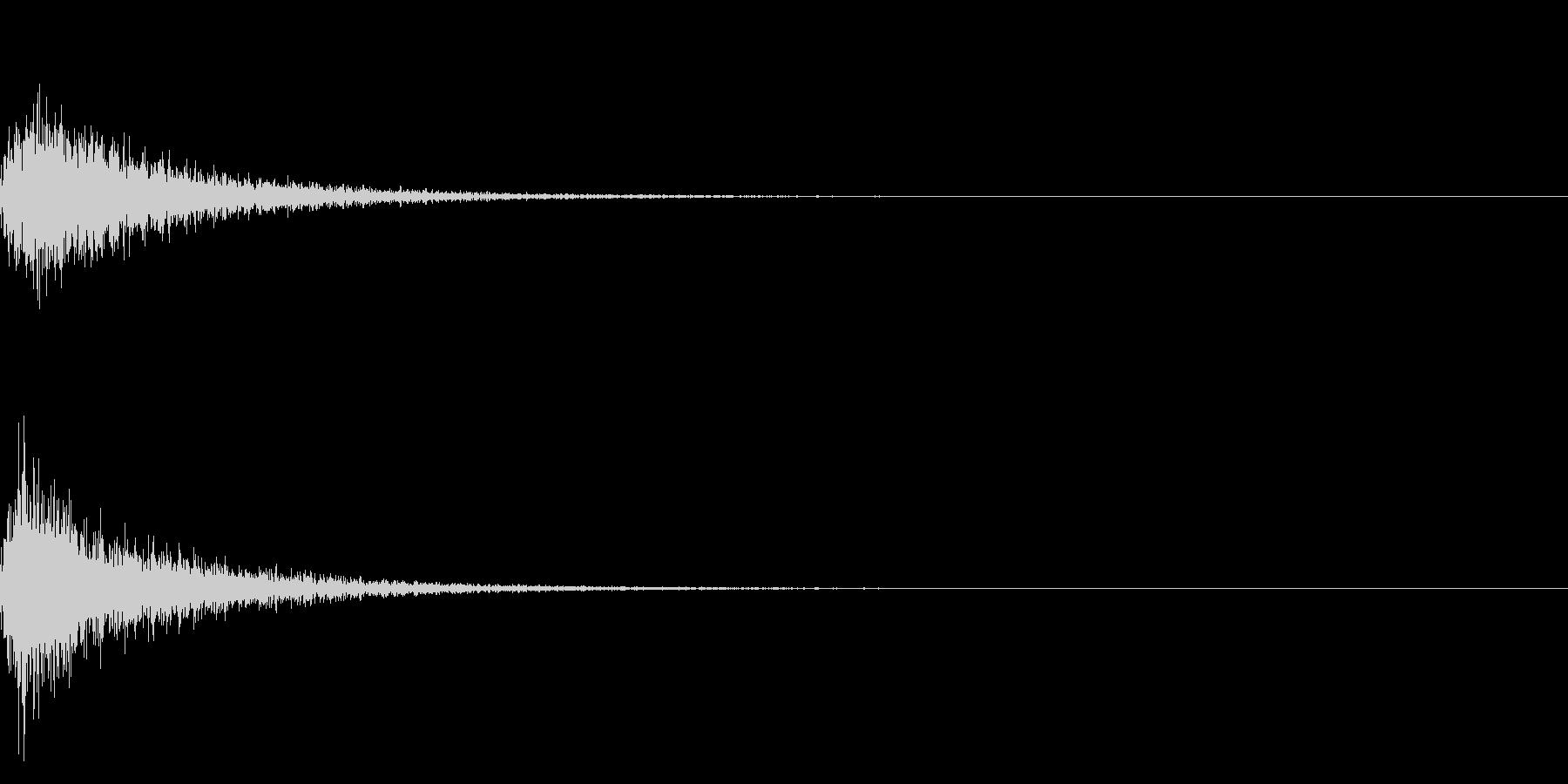 カン!和風な歌舞伎の床音(附け木)01の未再生の波形