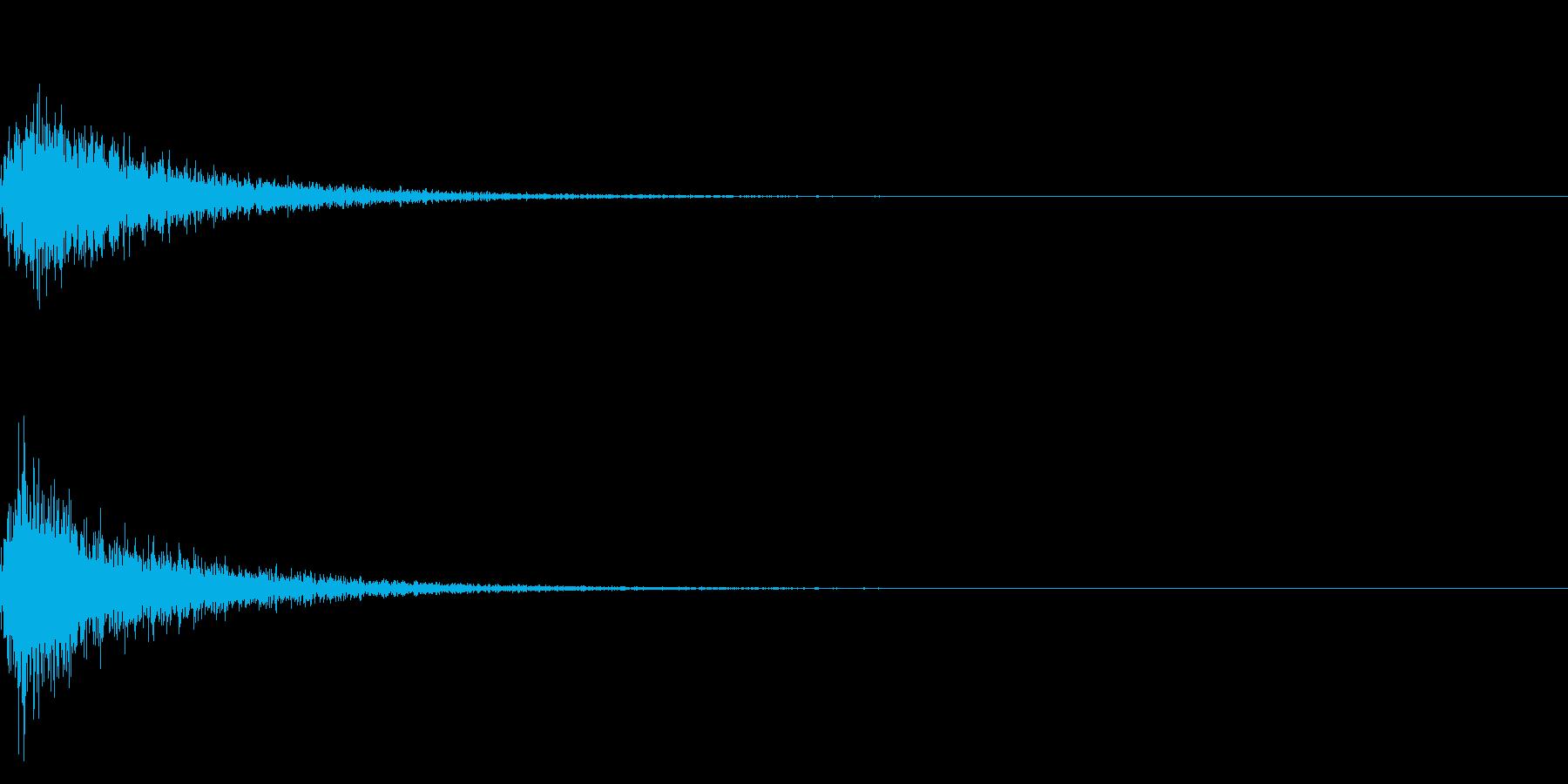 カン!和風な歌舞伎の床音(附け木)01の再生済みの波形