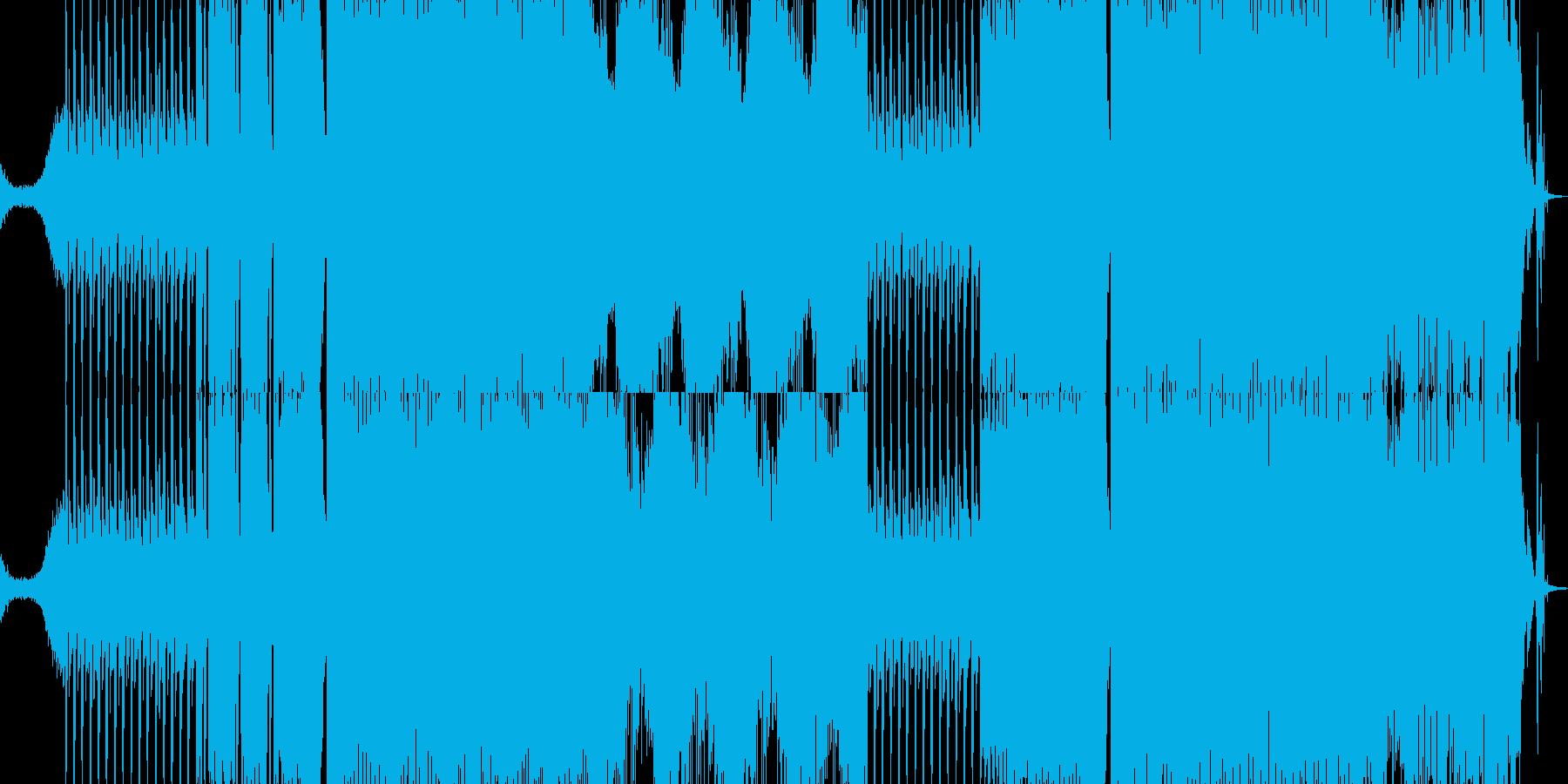 攻撃的なギターEDMの再生済みの波形