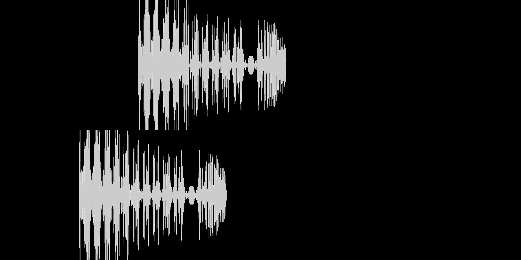 効果音(ポヨン+シュー)の未再生の波形
