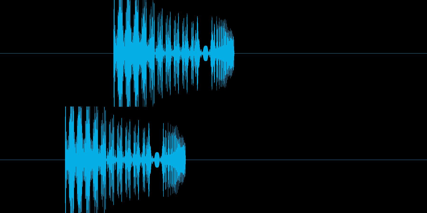 効果音(ポヨン+シュー)の再生済みの波形
