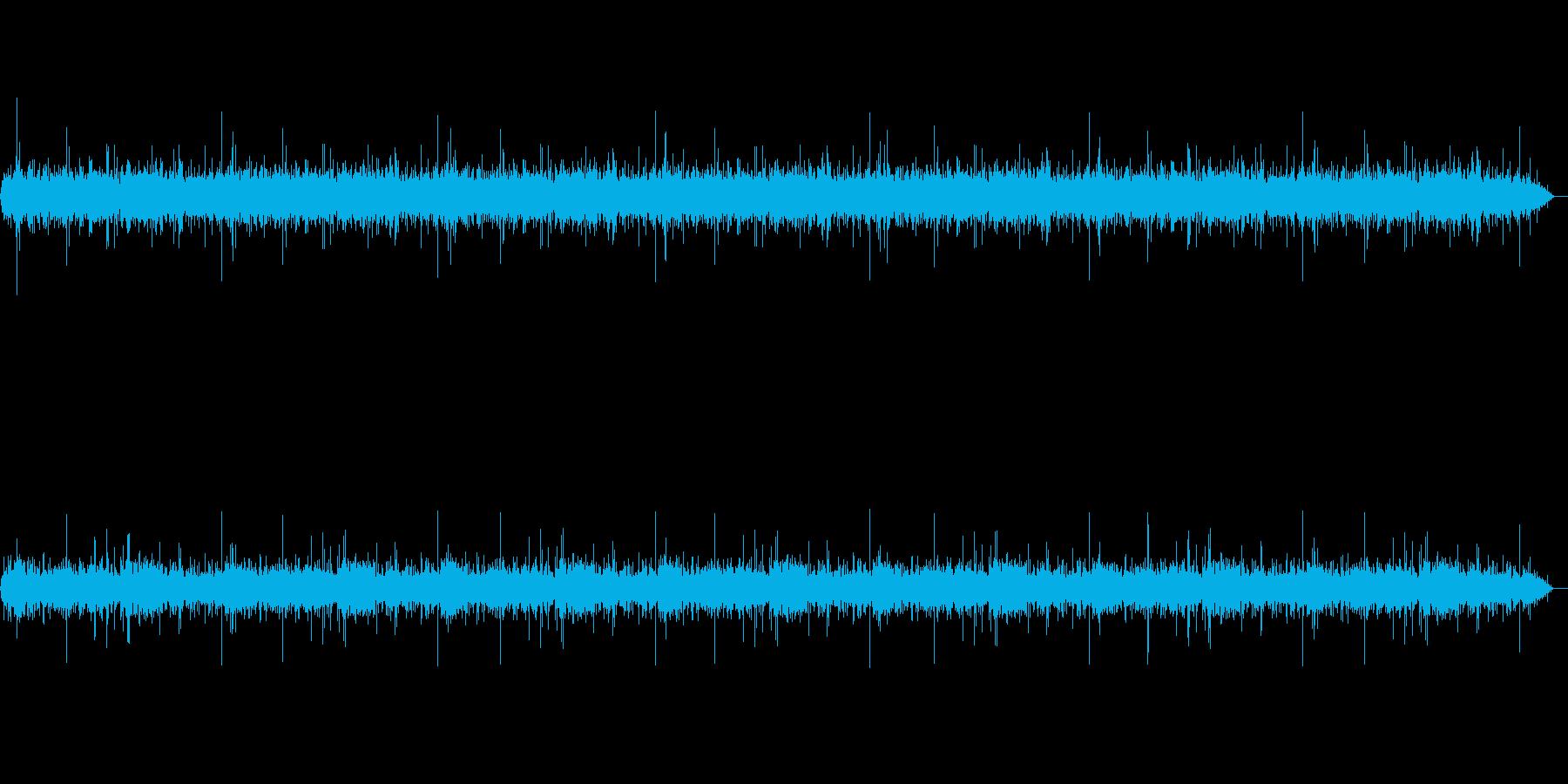 【バイノーラル録音】清流のせせらぎの再生済みの波形