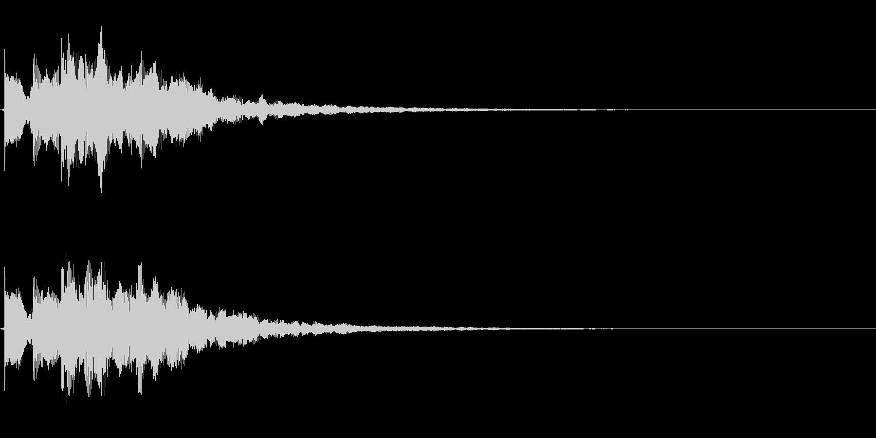 決定/ボタン押下音(ロード完了音)の未再生の波形