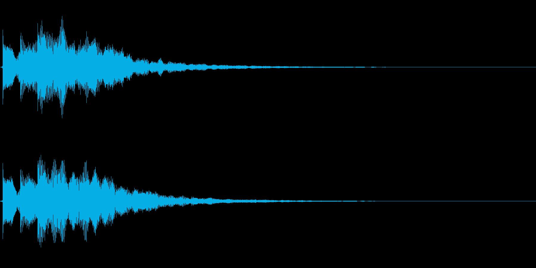 決定/ボタン押下音(ロード完了音)の再生済みの波形