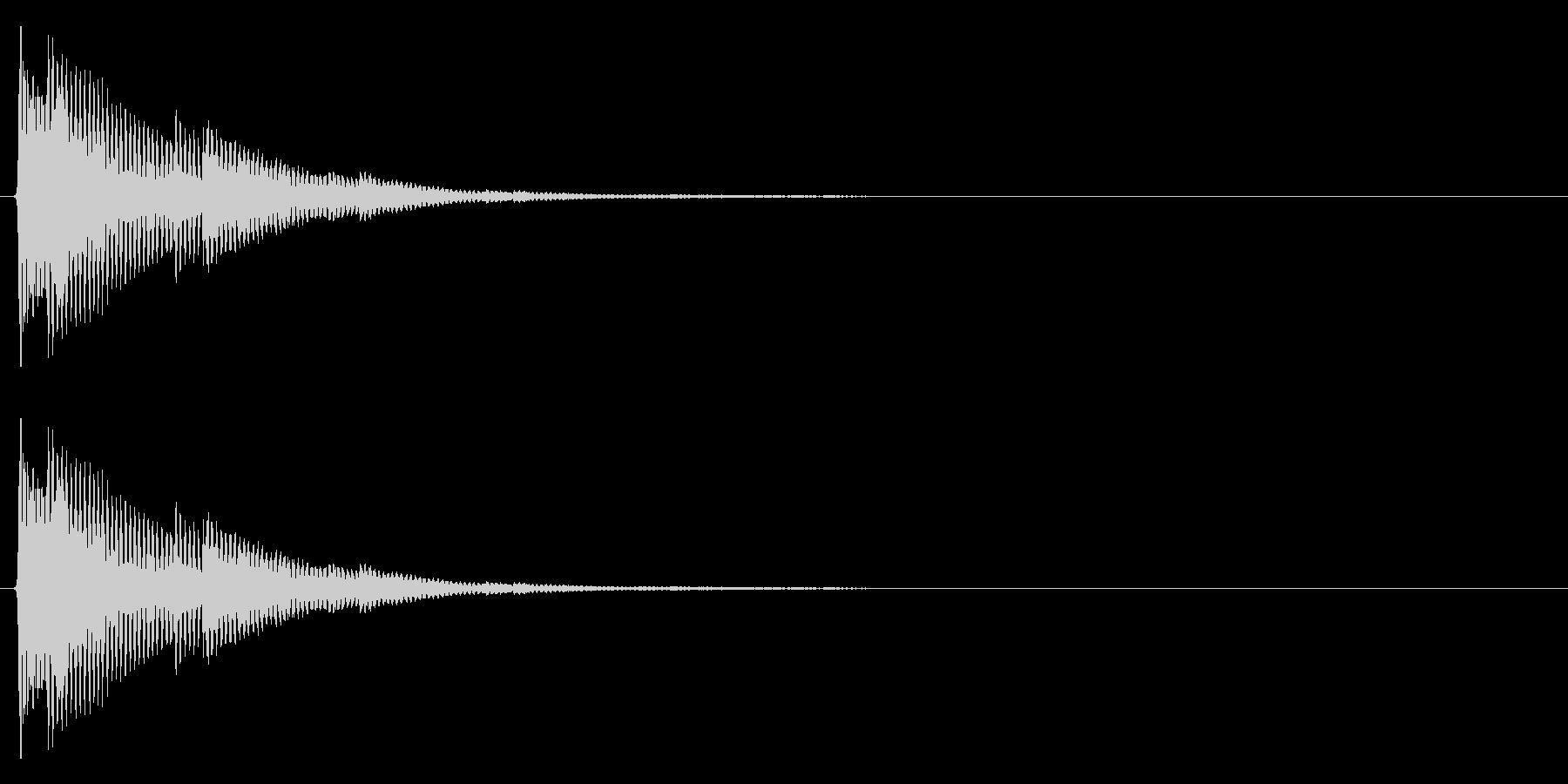 ティロン(テロップ、注目等)の未再生の波形