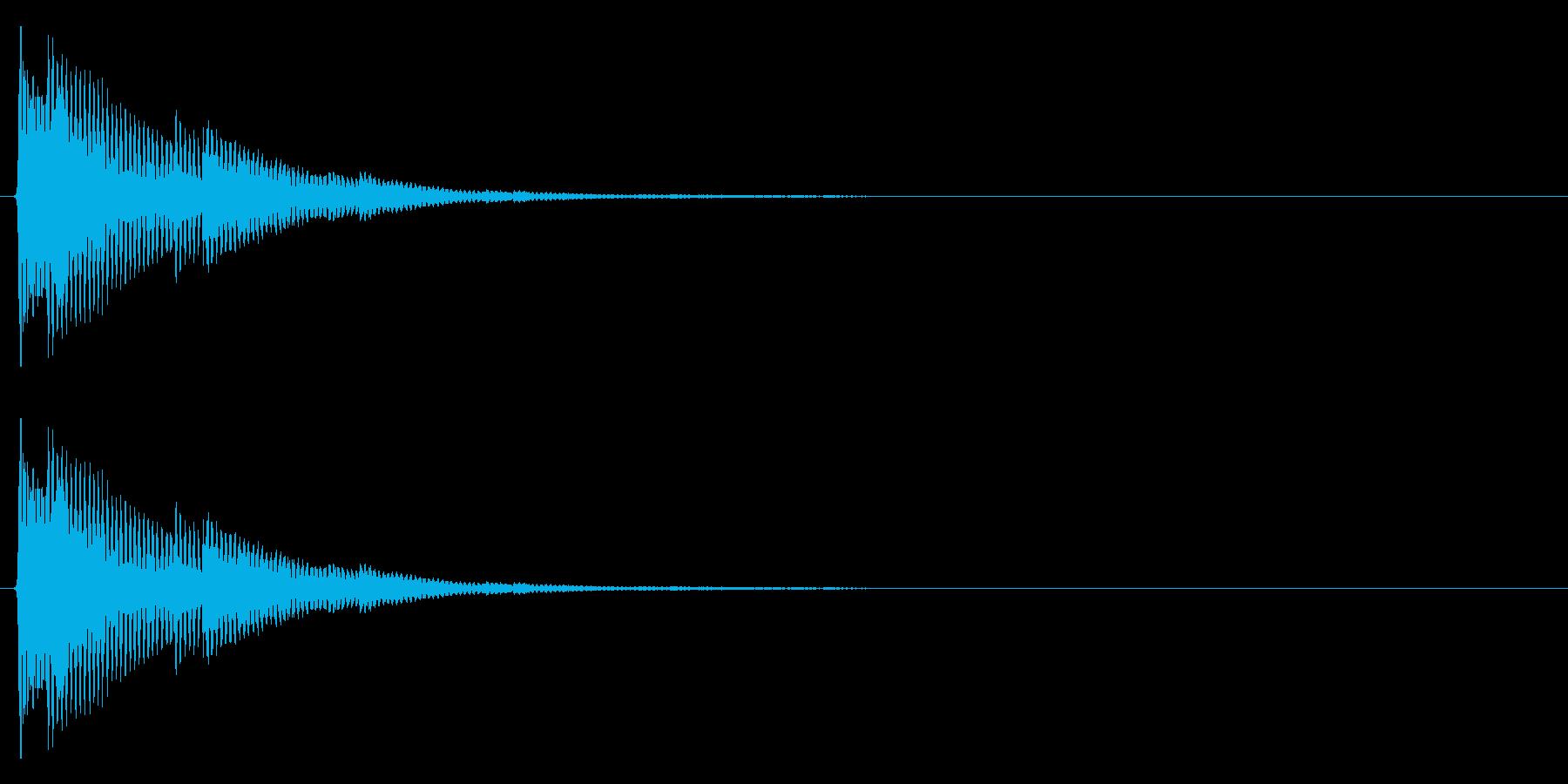 ティロン(テロップ、注目等)の再生済みの波形