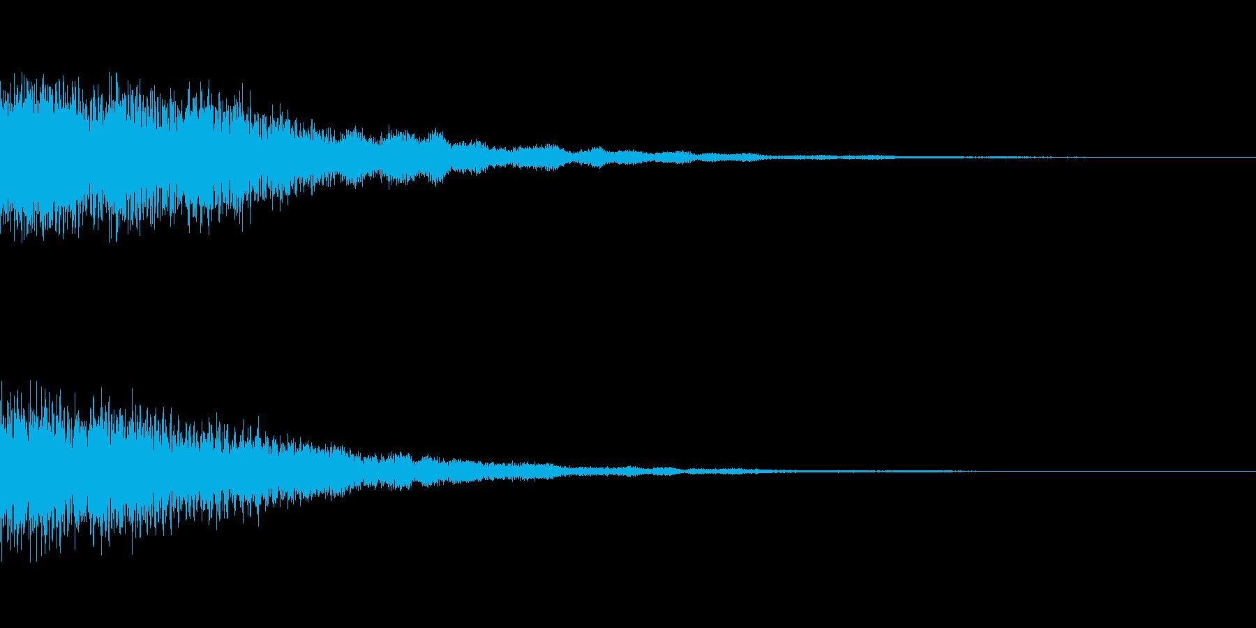 怪しさが感じられるシステム用の音ですの再生済みの波形