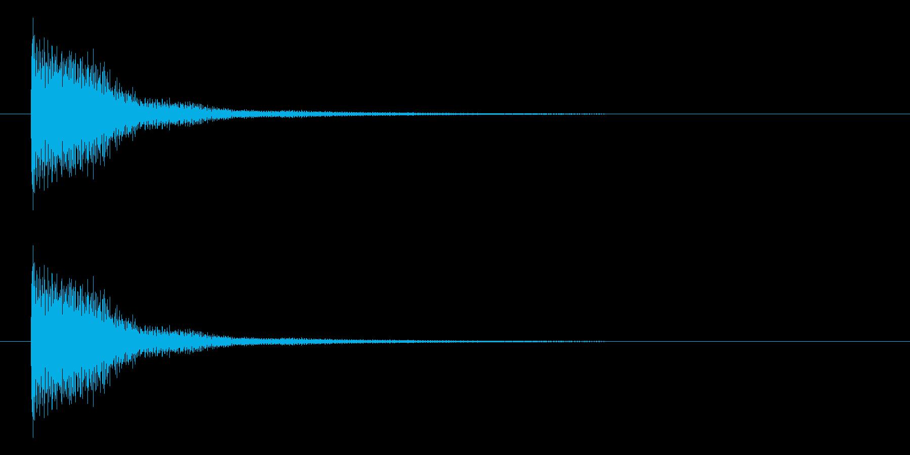 ジャーン(ピアノを適当に叩いた音)の再生済みの波形