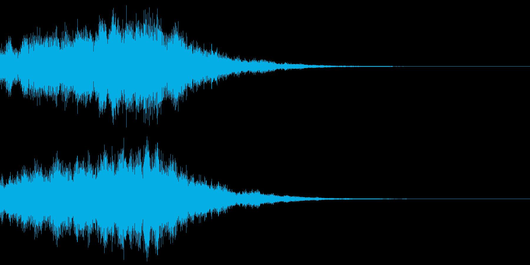 サウンドロゴ37_シンセDUの再生済みの波形