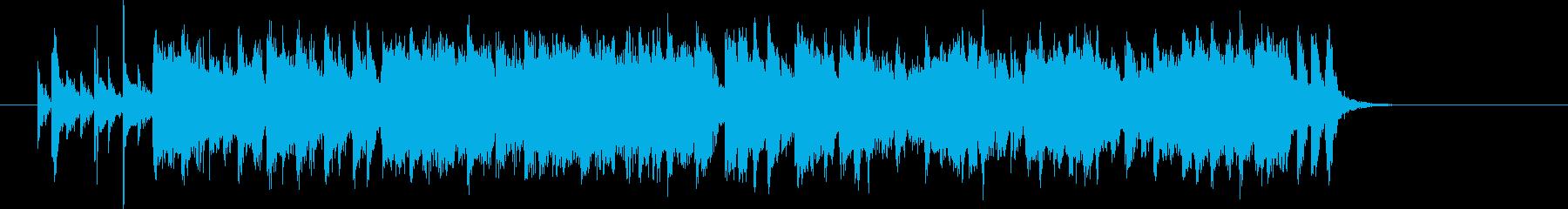 明るくて元気なロックなジングル曲の再生済みの波形