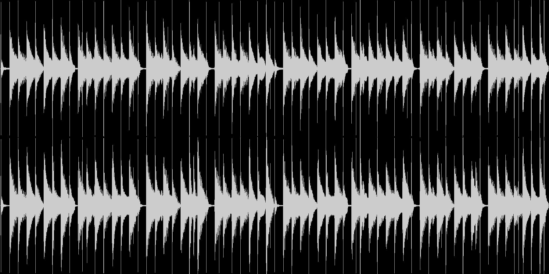 軽快で平和な日常系エレクトロニカの未再生の波形