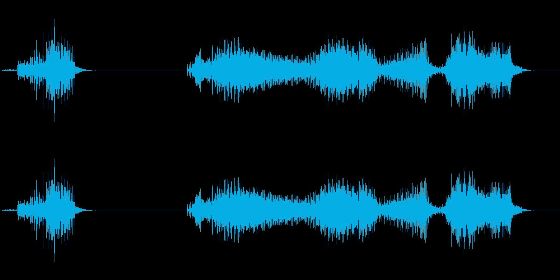 合点承知(どっしりした男性)の再生済みの波形
