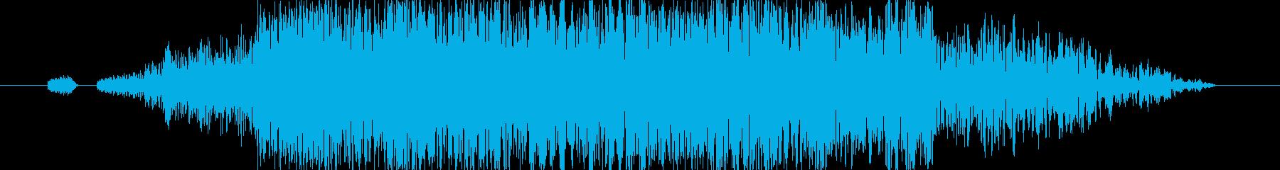 グシャ!リアルな刀や剣の斬撃の効果音03の再生済みの波形