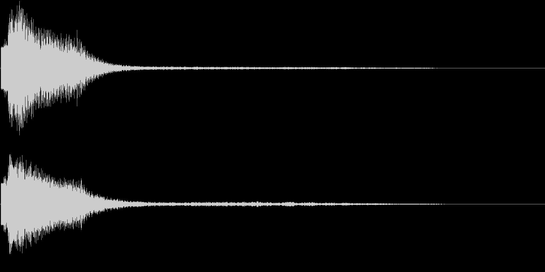 レーザービームの音の未再生の波形