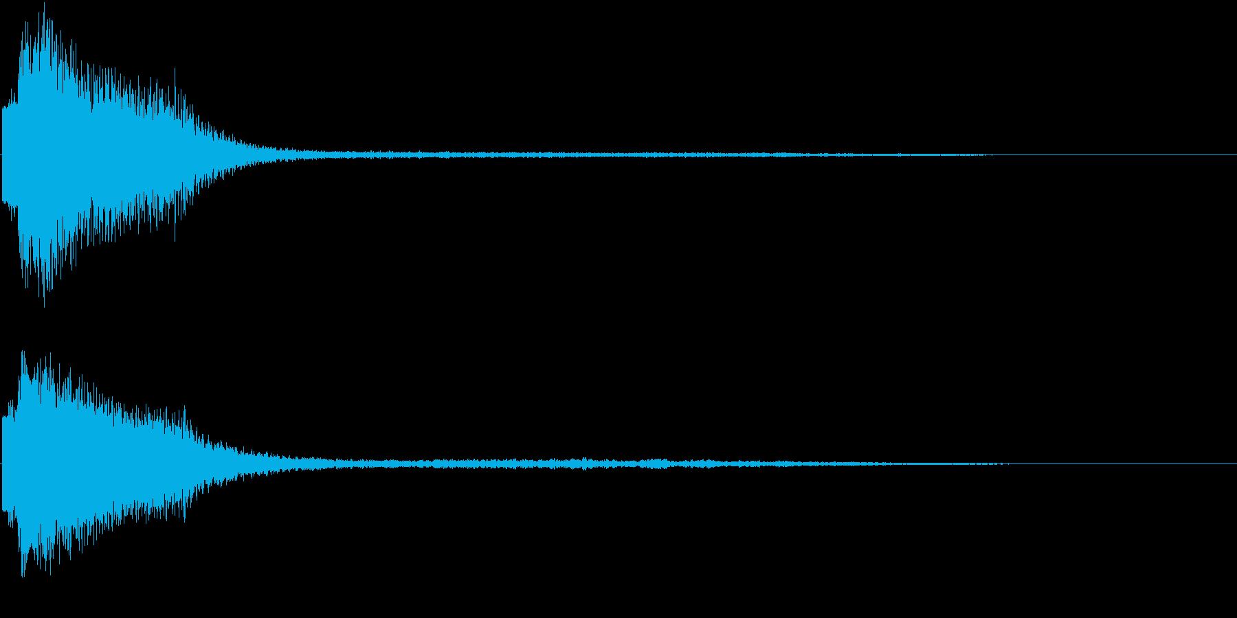 レーザービームの音の再生済みの波形
