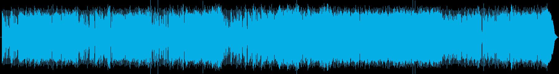 ゆったりしつつも陽気で軽快なファンクの再生済みの波形