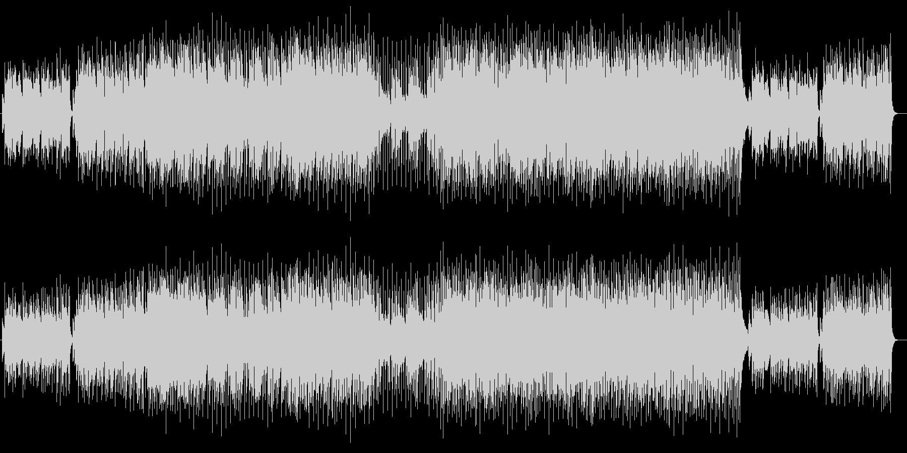 ピアノ伴奏のファンタジックな音楽の未再生の波形