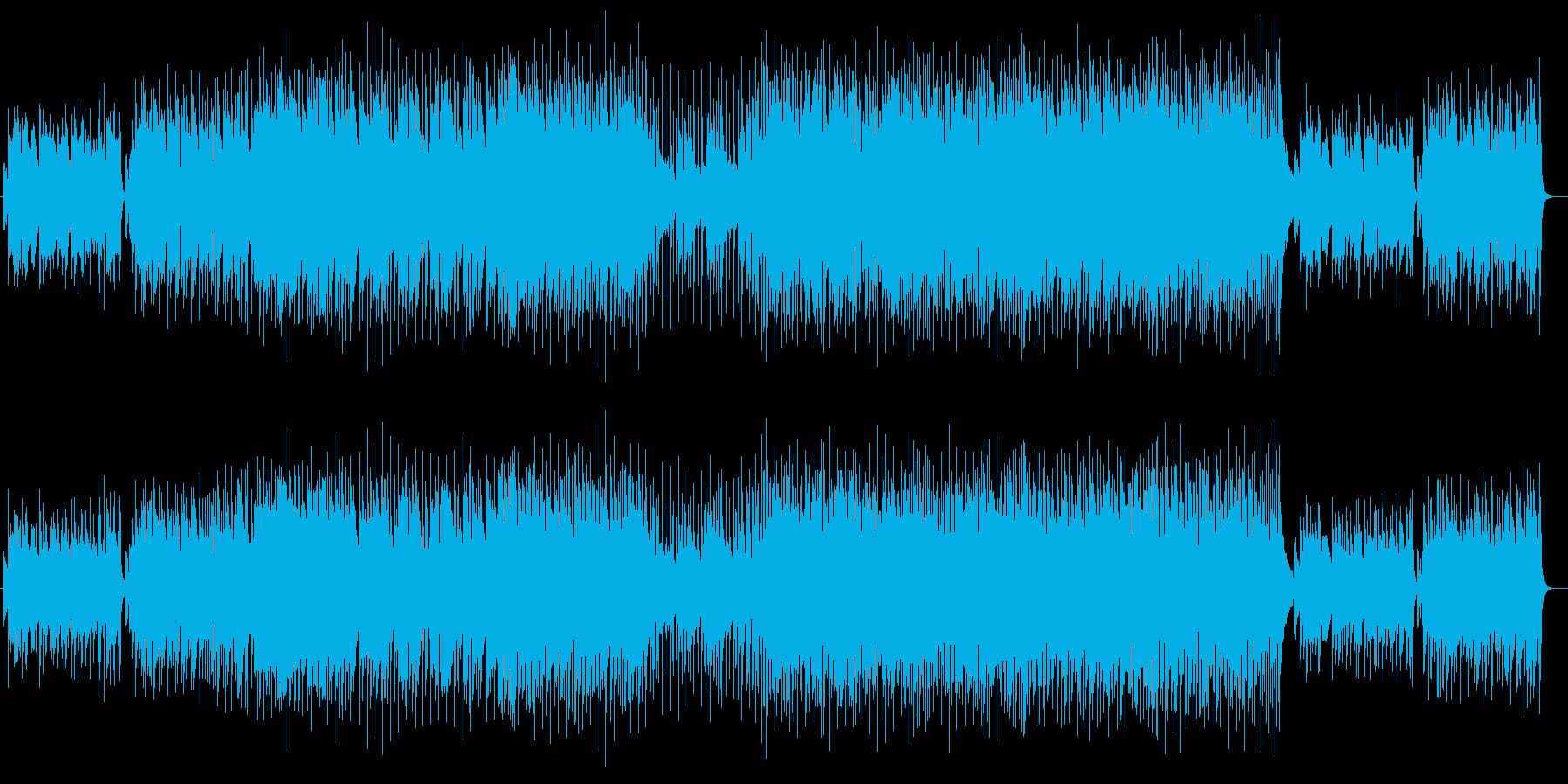 ピアノ伴奏のファンタジックな音楽の再生済みの波形