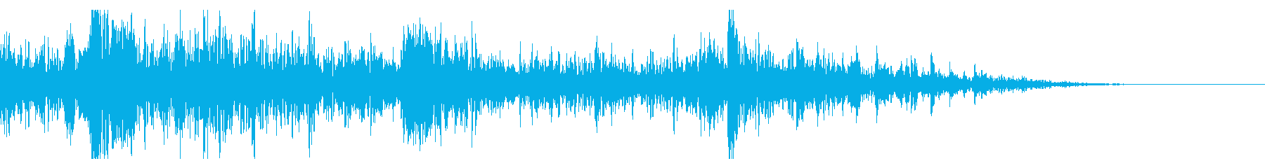 ドンパァ!花火の本当にリアルな効果音13の再生済みの波形