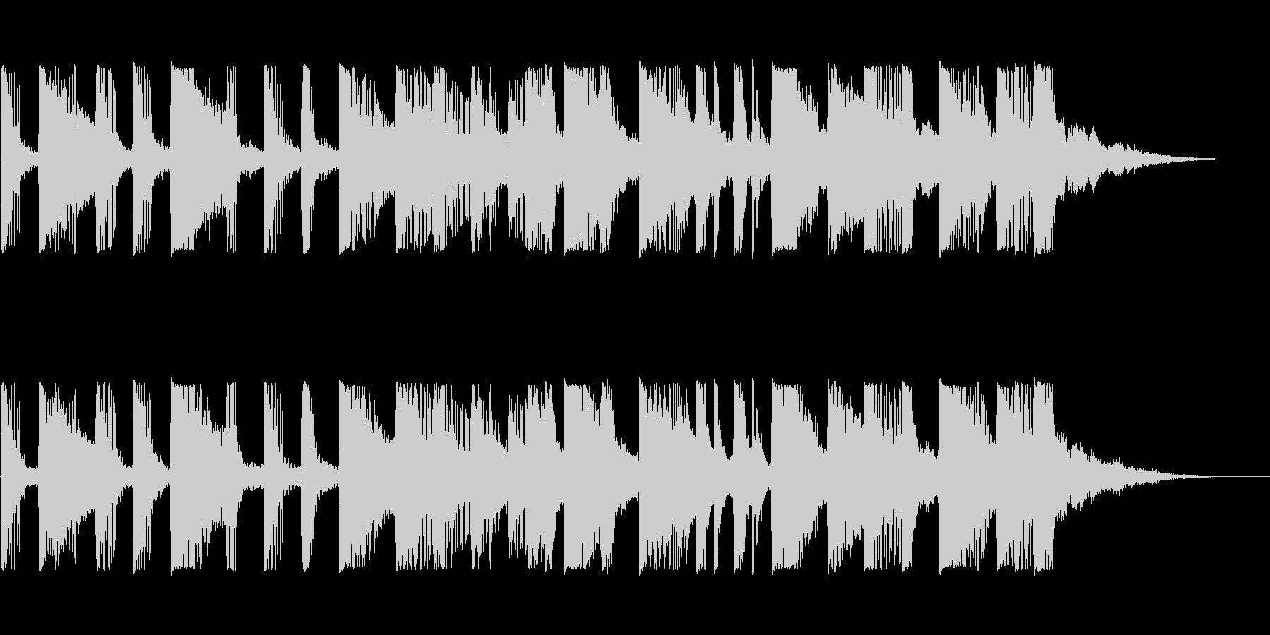 ポップなBGMの未再生の波形
