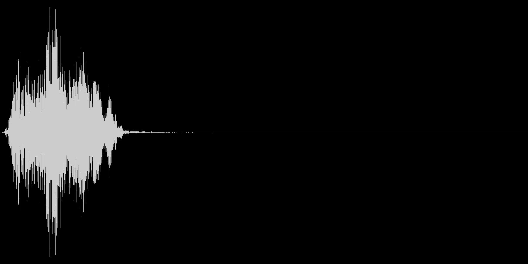ジッパー、ファスナーを閉じる音1-4の未再生の波形