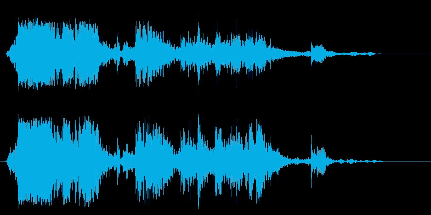 ガシャガシャ(金属音)の再生済みの波形