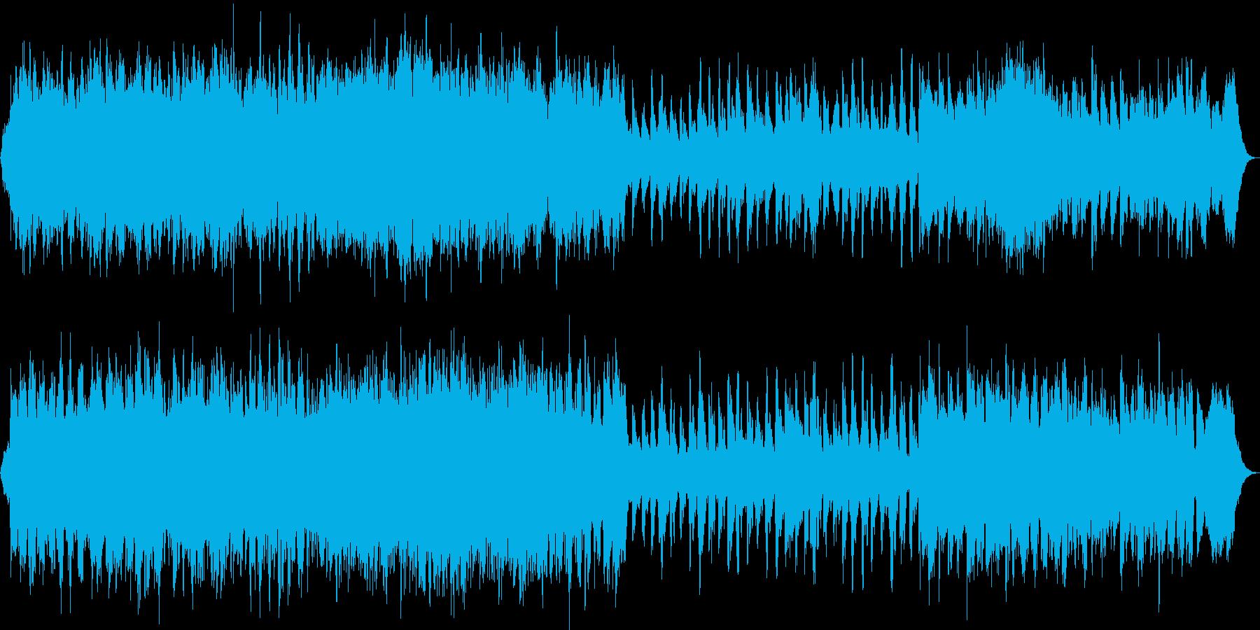 感動的なストリングスとピアノの再生済みの波形