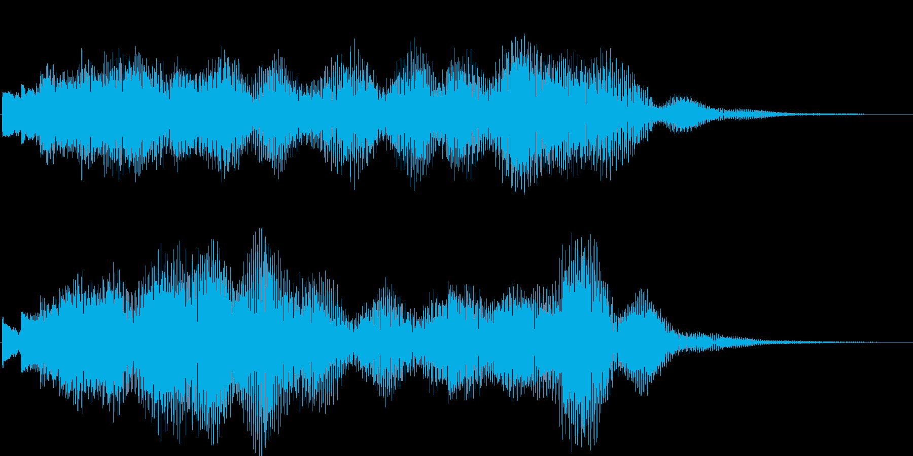 企業のサウンドロゴにピッタリなジングルの再生済みの波形